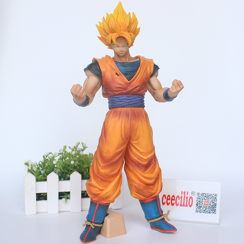 Anime Dragon Ball Z Son goku Figurine ROS Grandista Super Saiyan Collection PVC Figure Toys 32cm<br>
