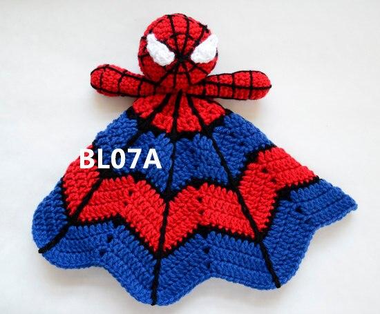 Superman Spiderman Love blankie, blankey, security blanket<br>