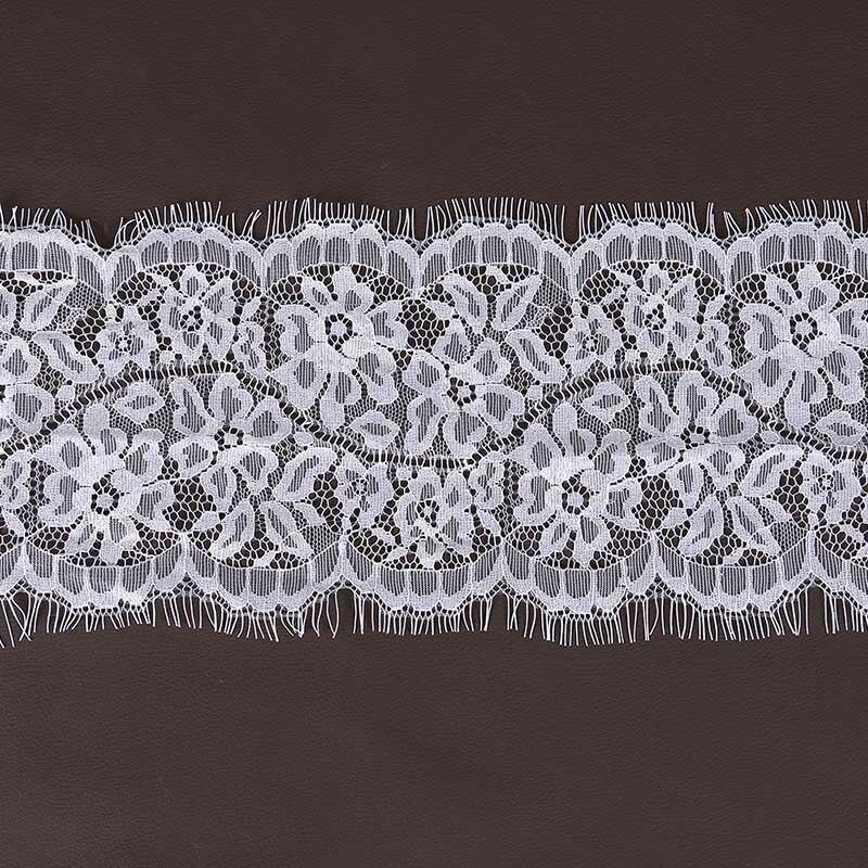 3 metres de dentelle a passants 100/% coton col blanc 2,5 cm de large