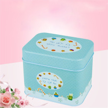 4Pcs Graceful Luxury Cute European Floral Pastoral Style Iron Storage Tank Box Square Sealed Cans Coffee Tea Candy Tin Container