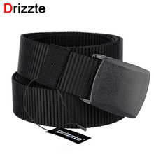 Drizzte Mens Plus Size Nylon Web Belt 130 140 150 160 180cm Webbing YKK POM Plastic Buckle 51 to 71inch Duty Belt for Big Men