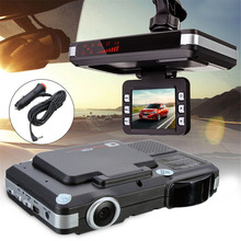 720P HD Night Vision Car DVR Camera Video Recorder Auto Dash Cam Laser Speed Radar Detector 2 In 1 Russian Dashcam Car-styling