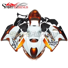 Fairings Fit Suzuki GSXR1300 Hayabusa 97 - 07 1997 1998 2005 2006 2007 ABS Motorcycle Fairing Kit Bodywork Cowling  White Gold