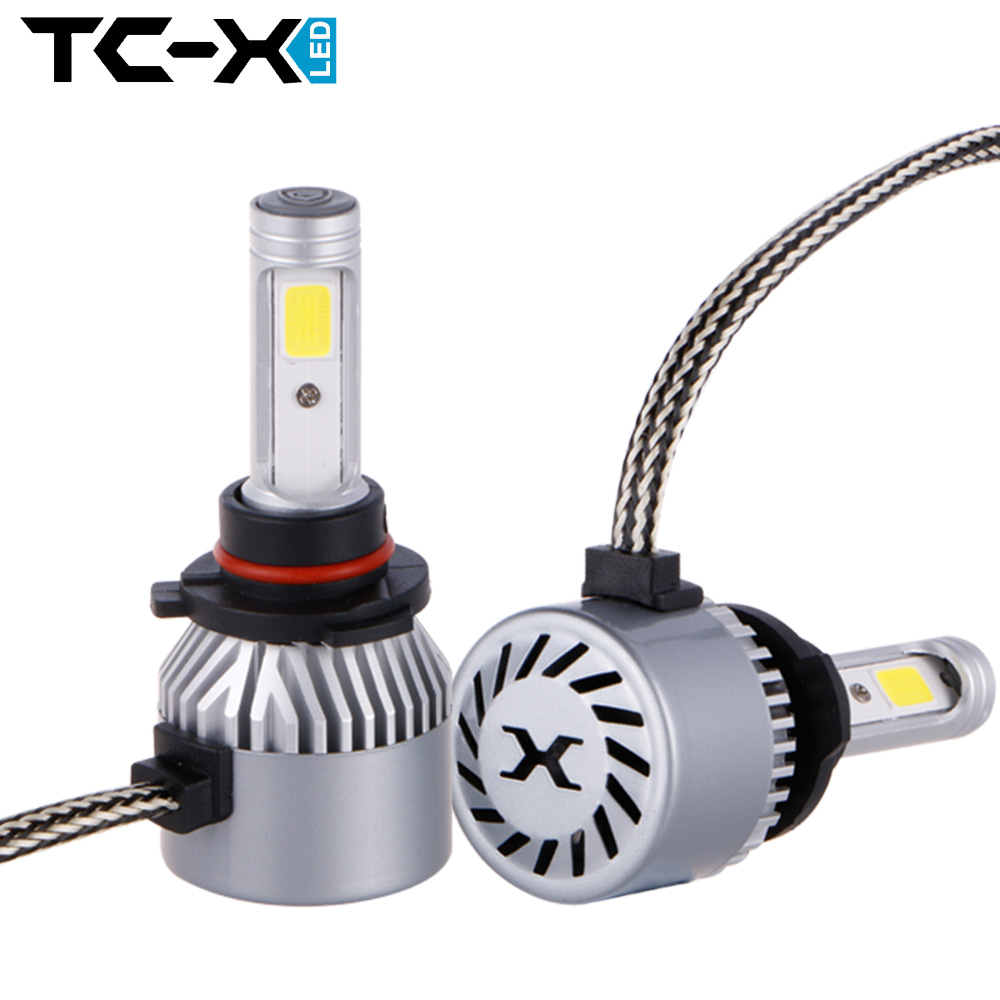 TC-X 2pc/lot High Power COB LED Chips 9005 Car Headlights Conversion Kit 72W 8000LM All In One Car LED Headlights Bulb Fog Light<br><br>Aliexpress
