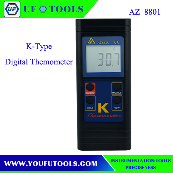 AZ 8801 NEW AZ8801 K-Type Digital thermometer Single K type Thermocouple input AZ8801 / AZ-8801Handheld K thermometer<br>