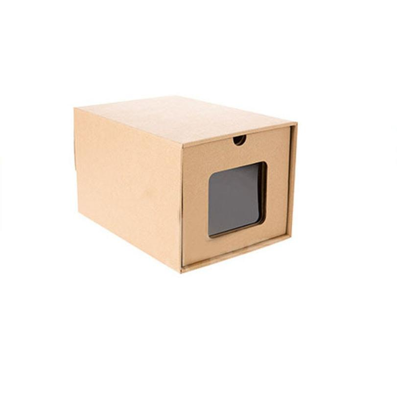 Kraft Paper Load Style Storage Shoe Box Household DIY caja de almacenamiento boite de rangement 17a16(China)