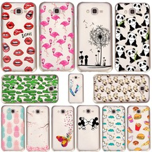 Mickey&Minnie kiss Lips pineapple unicorn Flamingo cactus panda Clear soft silicone cases cover for samsung Galaxy J5 2015 J500