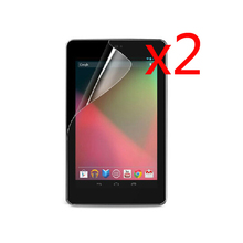 "2x Film + 2x Clean Clothing , Retail Package Clear LCD Screen Protector Protective Films For Google Nexus 7 2012 7"" Tablet"