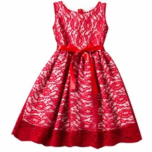 Vintage Flower Lace Baby Girl Dress Lace Teenage Girls Dresses For Special Events Wedding Princess Party Dress For Kids Clothes