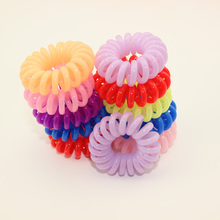 1 Pieces Random Color Small Hair Headbands Telephone Line Hair Rope for Women Hair Band High Elastic Hair Accessories
