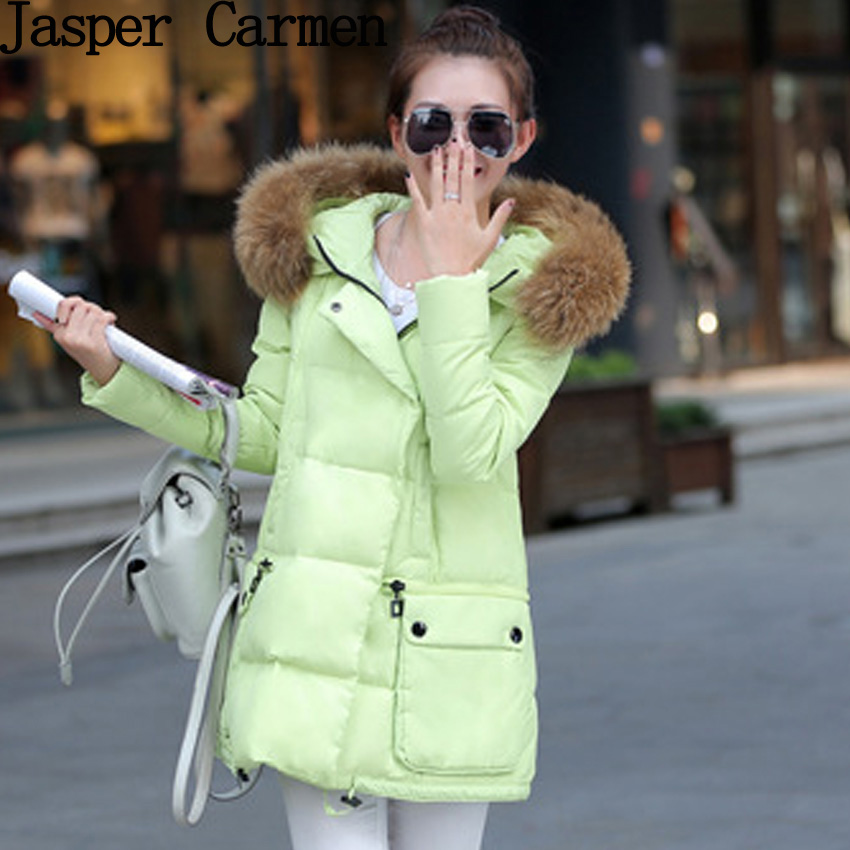 Free shipping New  fashion Jackets 2017 Parka Hooded Winter Jacket Women Artificial Fur collar winter coat women Long Coat 67hfxОдежда и ак�е��уары<br><br><br>Aliexpress