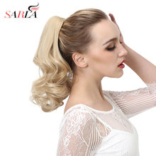 SARLA 200pcs/lot Claw Ponytails Wavy Synthetic Hair Extensions Resist High temperature Fiber Natural Hairpiece P004