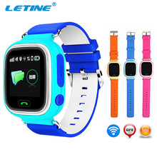 Letine Kids Baby Smart Watch Wrist Watches for Children's Clock Q90 with GPS and with a SIM Card Cell Phone Function in Russian