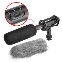 BOYA BY-PVM1000 Wired Condenser Interview Broadcast Microphone 3-pin XLR Output Super-Cardioid Stereo Microphone