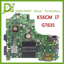 For ASUS K56CB K56CM A56C S550CM Laptop Motherboard  i7 GT635  Mainboard 100% tested  K56CM mainboard  Non-Integrated
