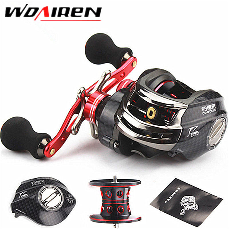 2017 NEW Fishing Reel 13BB 6.3:1 Right Hand Baitcasting Fishing Reel Bait Casting Reels Fishing Reels Saltwater Red DDL-1<br>