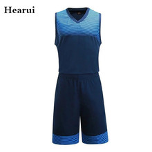 Hearui Custom Blank Basketball Jerseys Men Professional Training Game Team Uniforms Breathable Sports Clothes Throwback Jerseys