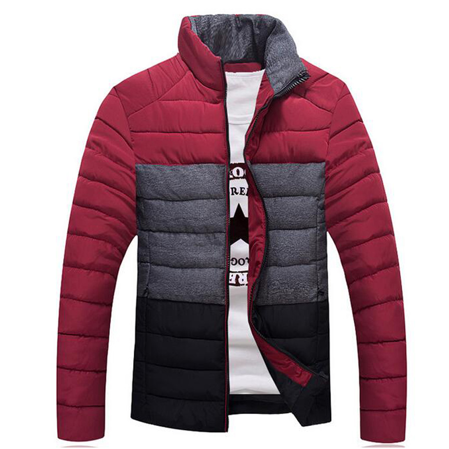 New style winter coat men parkas warm jacket patchwork fashion popular male slim parka outwear casual stand collar parkas newОдежда и ак�е��уары<br><br><br>Aliexpress