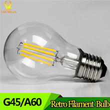 E27 LED Filament Bulb Lamp Light 2W 4W 6W 8W Ampoule Vintage Glass Edison Led Bulb 220V Decorative Replace Incandescent Lamp(China)