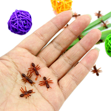10PCS Christmas Gift Ant Prank Funny Trick Joke Special Lifelike Model Fake Ant Toy Event Party Practical Jokes Gag Toys
