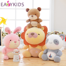 Metoo Plush Rabbit Panda Bear Lion Dolls Unique Gifts high quality Sweet Cute doll Metoo baby  doll for kids Christmas