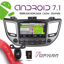 WANUSUAL 8'' Android 7.1 Automotive Car DVD Players for Hyundai Tcson IX35 2015 Auto GPS Navigation Stereo free sdcard