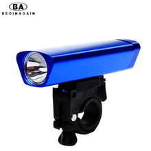 BEGINAGAIN Bicycle Front LED Lamp Aluminum Head Light Handlebar Tube Flashlight Bike Bracket Super bright durable anti-oxidation