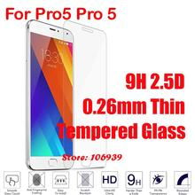 Anti-Explosion Cheap Best 9H Hardness Hard 2.5D 0.26mm Phone Cell Mobile Glass Screen Protector For Meizu Pro5 Pro 5 Cover