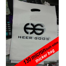 custom shopping handle plastic bag/gift plastic packaging bag for garment/printed LOGO promotion bag
