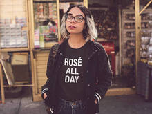 Rose All Day quote tshirt - Rose all day women's graphic tee women's shirt rose wine rose all day shirt wine shirt casual tops(China)