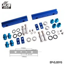 Hubsports - For SUBARU WRX STI EJ20 EJ20T STI Top feed Injector Fuel Rail Turbo Kit Blue Aluminium Billet HQ JDM HU-EJ20YG(China)