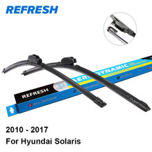"REFRESH Wiper Blades for Hyundai Solaris 26""&16"" Fit Hook Arms 2010 2011 2012 2013 2014 2015 2016 2017(China)"