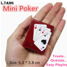 Lovely Mini Poker Interesting Playing Card Game Outside Outdoor or Travel Mini Poker S312