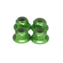 Traxxas 102049 Aluminum M4 Nylon Nut for 1/10 RC Hobby Model Car Upgraded Hop-up Part HSP Traxxas Losi Axial Himoto Redcat Toy(China)