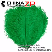 CHINAZP Factory 35-40cm(14-16inch) 200pcs/lot Good Quality Dyed Kelly Green Ostrich Drab Feathers for Mardi Gras