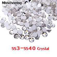 1pack SS3 Nail Art Rhinestones Crystal Clear Rhinestones For Nails New Nail Stones Loose Glitter DIY Nails Design Manicure