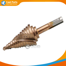 Two pit slot 6-35mm Dia 10mm Hss Step Cone Drill Bit Hole Cutter Set 13 Steps Metric Step spiral groove Drill,(China)