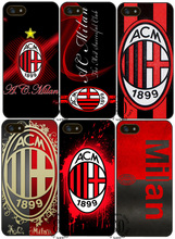 AC Milan cover case for iphone X 4s 5 5s SE 5c 6 6s 7 8 Plus Samsung s3 s4 s5 mini s6 s7 s8 edge plus Note 3 4 8(China)