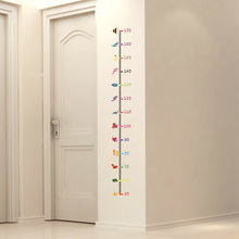 Height Measurement Wall Stickers Cartoon Undersea Animals World Wall Decals for Kids Baby Room Nursery Decoration