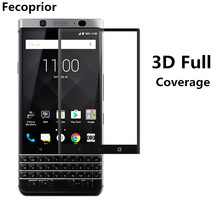 Fecoprior 3pcs/Lot 3D Curved Edge Tempered Glass For BlackBerry KEYone Black Berry Mercury Full Cover Screen Protect Film(China)