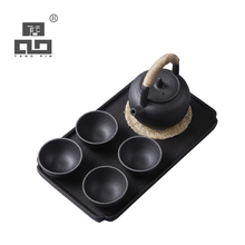 TANGPIN 2017 new arrival japanese black crockery teapot ceramic tea cup coffee pot set japanese tea set with tray