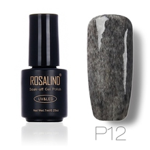 [Poland Group]ROSALIND Long Lasting Faux Fur Effect Nail Gel Soak Off UV LED Nail Art Gel Polish 12 Colors for Nail Art