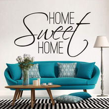 Home Sweet Home Quotes Wall Decal ,Bedroom Living Room Font Art Wall Stickers Vinyl Removable House Decoration JD3542A1