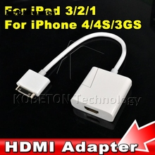 kebidumei 1pcs High Quality Dock Connector to HDMI Adapter AV Cable For iPhone 4 4S for iPod Touch for iPad 2 3 to HDTV TV 1080P(China)