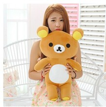 80 cm San-x Rilakkuma bear plush toy bear doll throw pillow gift w5180(China)
