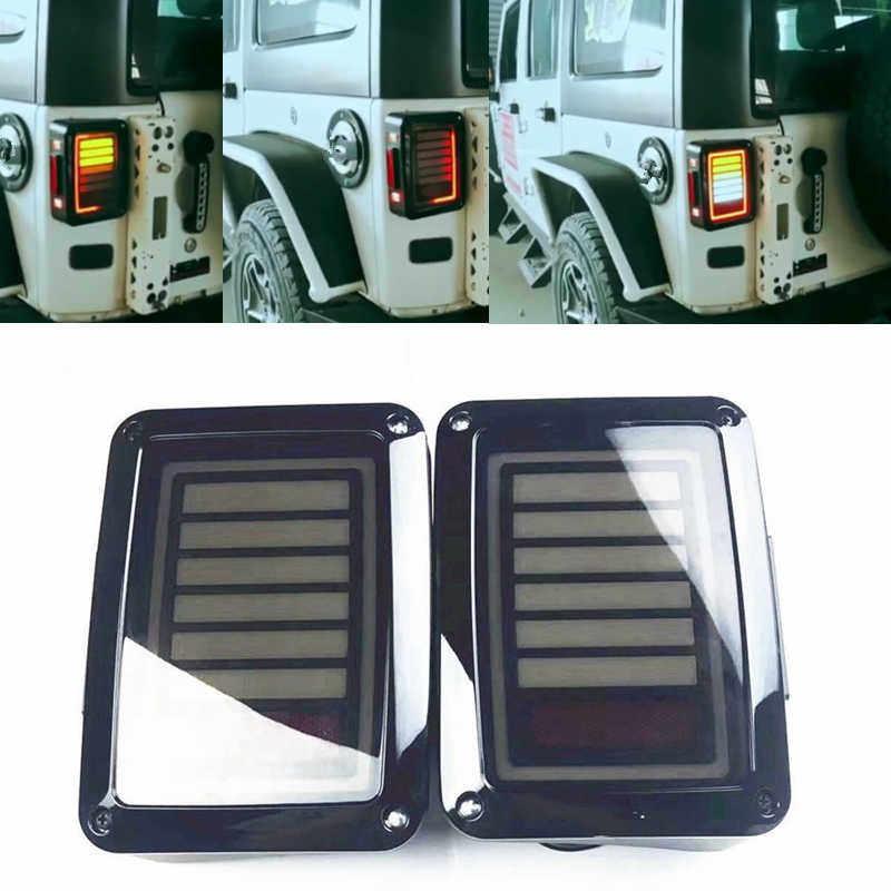 brake turn signal LED Tail Lights Lamp Rear Assemblies for Jeep Wrangler JK 2&4 Door 2007-2017