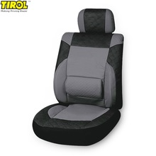 1pc Original Tirol Universal Car Seat Cover PU Leather/ PVC Seat Protector Car Interior Accessories Seat Covers Black Gray Color(China)