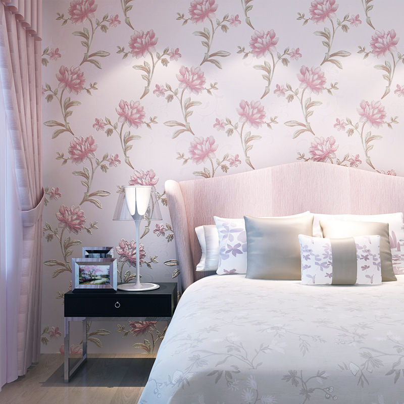 beibehang Luxury 3D Flowers Wallpaper For Wall Living Room Bedroom TV Sofa Background Wall Covering Papel De Parede papier peint<br>