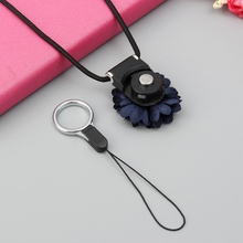 5 Pcs 50cm Long Lanyard Universal Portable Chrysanthemum Separable Mobile Phone Strap Work Permits Ring For iPhone For Samsung(China)