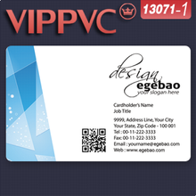 promotive products pvc card a13071-1 Template for cheap business cards Design and Printing PVC card